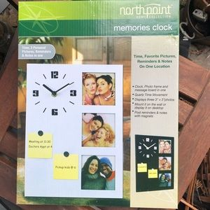 Other - New! Memories Wall Clock and Post it Board